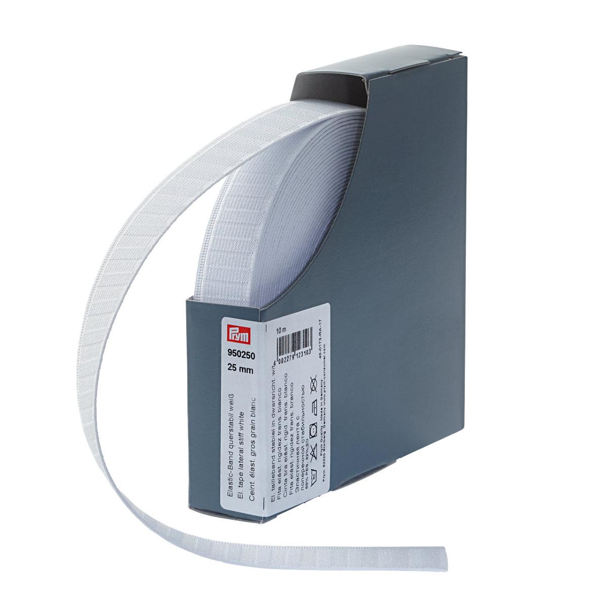 Prym 950250 Elastic-Band querstabil 25 mm wei/ß 68/% PES 32/% ED